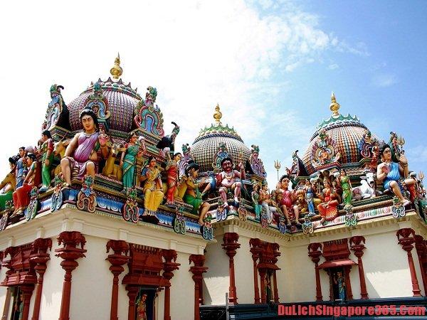 Đên Hindu điểm tham quan đẹp hấp dẫn khách du lịch tại Singapore
