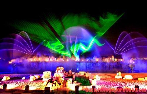 Chương trình nhạc nước, địa điểm vui chơi trên đảo Sentosa Singapore