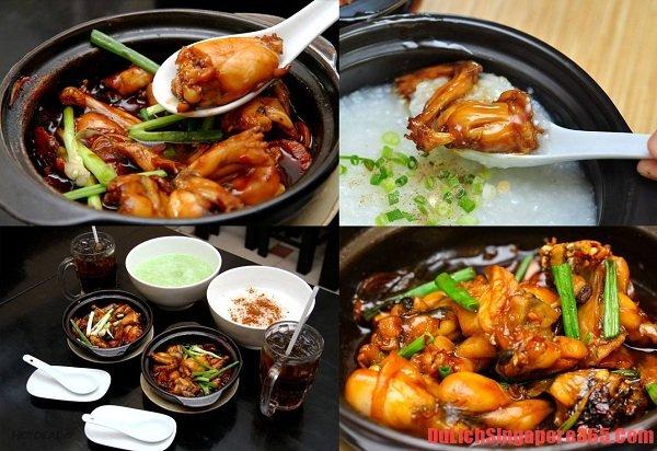 Món cháo ếch thơm ngon bổ dưỡng- món ăn đặc trưng tại Singapore. Nằm trong top 5 món ăn sáng ngon hấp dẫn ở Singapore đáng thưởng thức