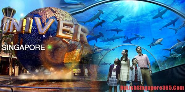 Du lịch Singapore giá rẻ, hấp dẫn. Du ngoạn tham quan thủy cung S.E.A Aquarium, thủy cung dưới nước lớn nhất thế giới.