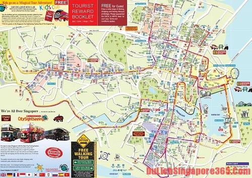 Bản đồ du lịch xe bus tại Singapore thuận tiện nhất.