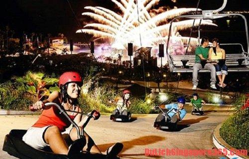 Skyline Luge Sentosa trò chơi mạo hiểm tại singapore bạn nên thử