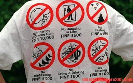 NHững điều cần tránh khi du lịch ở Singapore
