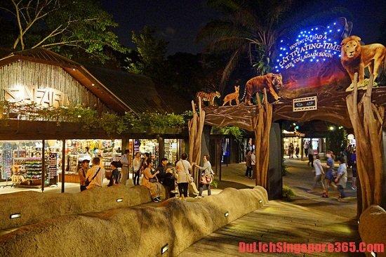Giá vé vào cửa điểm tham quan ở Singapore-vườn thú đêm