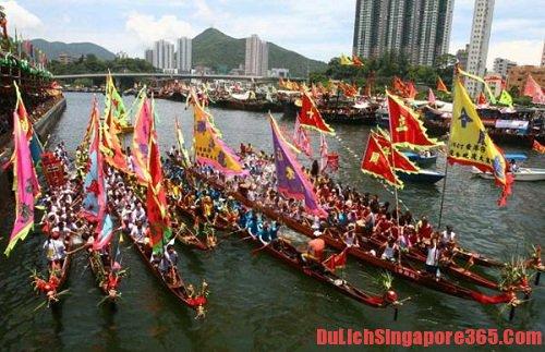 Lễ hội đua thuyền thời gian tham quan lý tưởng khi đến Singapore