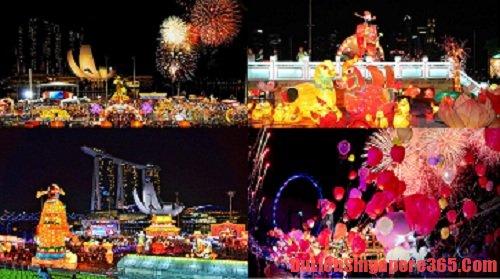 Đến Singapore vào dịp tết Nguyên Đán để xem lễ hội River Hongbao