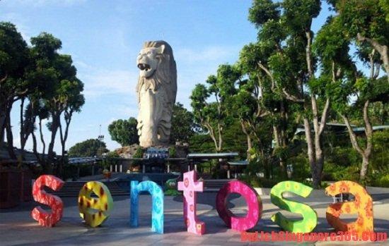 Sư tử biển trên đảo Sentosa nổi tiếng là tượng sư biển đẹp bậc nhất Singapore
