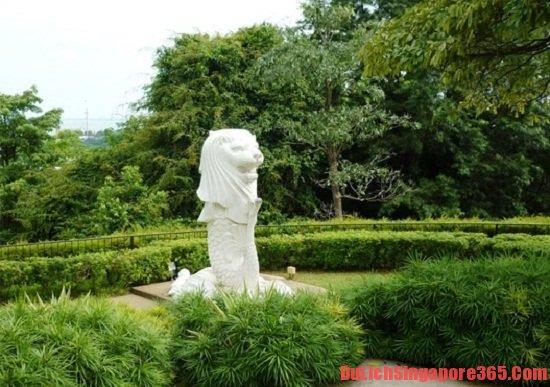 Tương the merlion trên đỉnh Faber đẹp bậc nhất Singapore