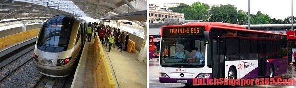 Phương tiện công cộng thuận tiện rẻ cho đi du lcihj Singapore