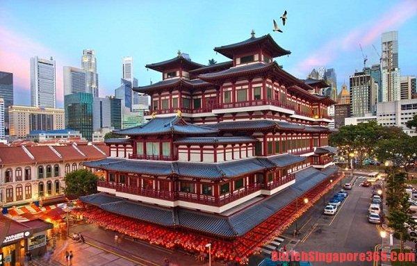 Chùa Phật Nha ngôi chùa linh thiêng nổi tiếng Singapore