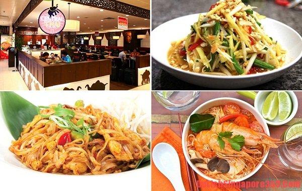 Chuyên đặc sản Thái Lan tại sân bay Changi, đến nhà hàng nấu đồ ăn ngon tại Sân bay changi ở Singapore