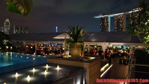 Bar Altitude một trong những bar nổi tiếng bậc nhất Singapore, sang trọng, đẹp, cao nhất thế giới