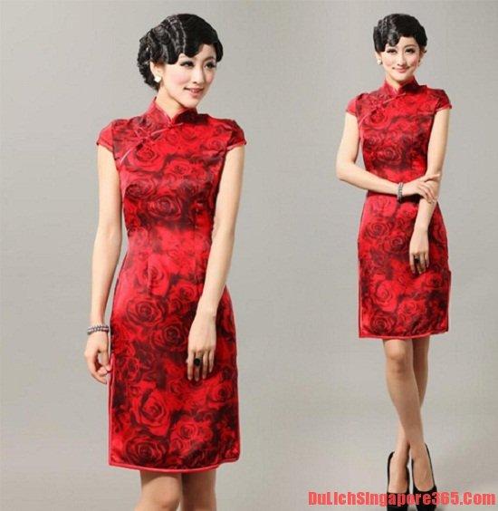 Sườn xám trang phục truyền thống của người Hoa ở Singapore