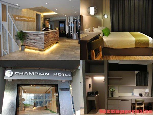 Khách sạn giá rẻ, đẹp, tốt, chất lượng ở Champion Singapore