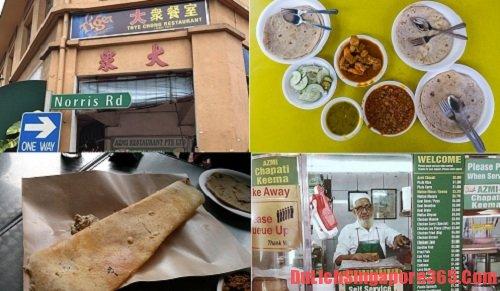 Azmi chapatis nơi nên đến khi du lịch Singapore