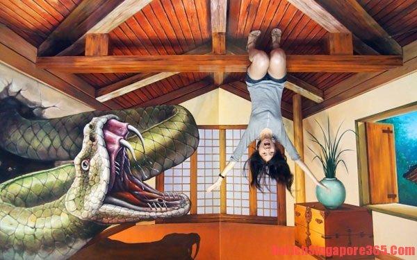 Du lịch Singapore tham quan bảo tàng tranh 3D thú vị và đầy sáng tạo