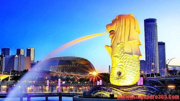 Công viên Sư tử biển Merlion địa điểm hấp dẫn nhất trên vịnh Marina Singapore. Nơi đây thu hút hàng triệu khách du lịch mỗi năm bởi nét thú vị của bức tượng sư tử biển đầu sư tử thân cá.