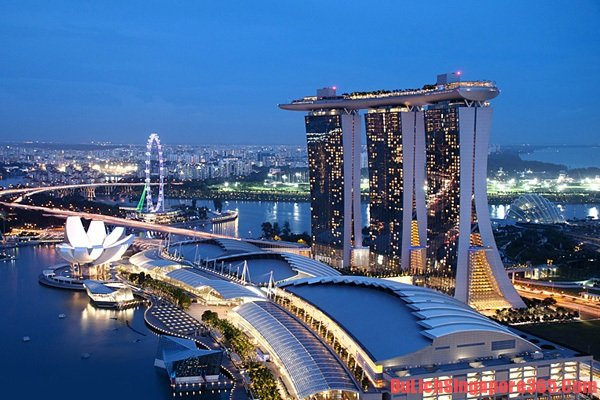 Vịnh Marina Singapore điểm đến hấp dẫn thú vị, tập trung những thắng cảnh đẹp nổi tiếng của Singapore