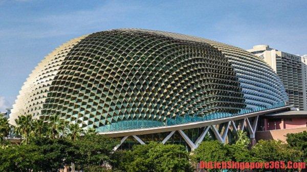 Nhà hát quả sầu riêng nổi tiếng ở Singapore với kiến trúc độc đáo